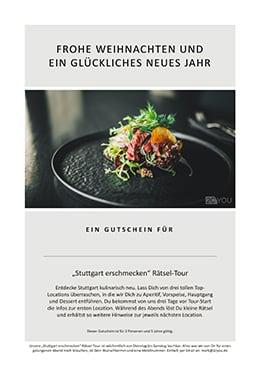 Kulinarische Entdeckungs-Tour durch Deine Stadt – Der 2CYOU Gutschein zu Weihnachten
